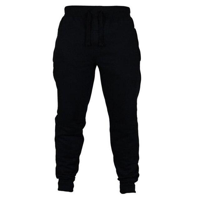Jogging Casual Hombre Pantalones de aptitud de los hombres ropa deportiva pantalones de chándal ajustados pantalones de chándal Pantalones negro gimnasios Jogger Pantalones 2