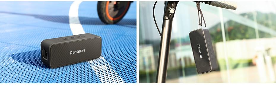 Tronsmart T2 Plus Bluetooth 5.0 Speaker 20W Portable Speaker 24H Column IPX7 Soundbar with TWS,Voice Assistant,Micro SD (10)