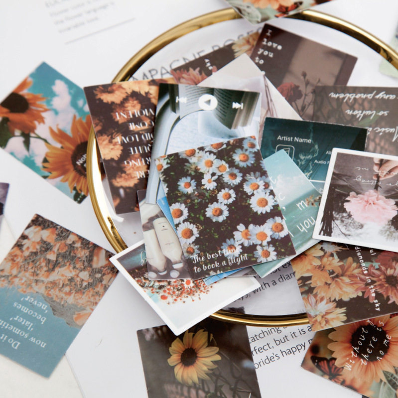 45pcs/pack Ins Style Travel Photography Decorative Stickers Scrapbooking Diy Diary Album Stick Label