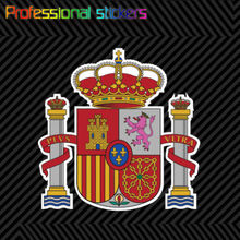 Hiszpański herb naklejka naklejka samoprzylepna Vinyl flaga hiszpanii ESP ES naklejki na samochody, rowery, laptopy, Motos