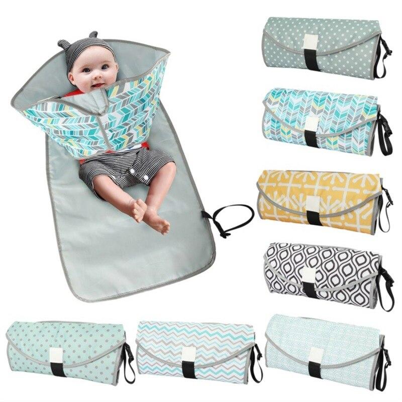 7 Colors  Baby Waterproof Portable Diaper Changing Pad Kids Foldable Travel  Accessories Infant & Newborn Change Nursing Mat