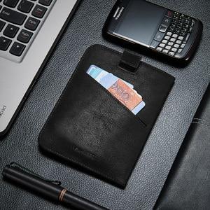 Image 5 - NewBring Funda de cuero para pasaporte para hombre y mujer, Cartera de viaje para tarjeta de crédito, talonario, titular de la identificación, Clip para billetes, monedero, porta pasaporte