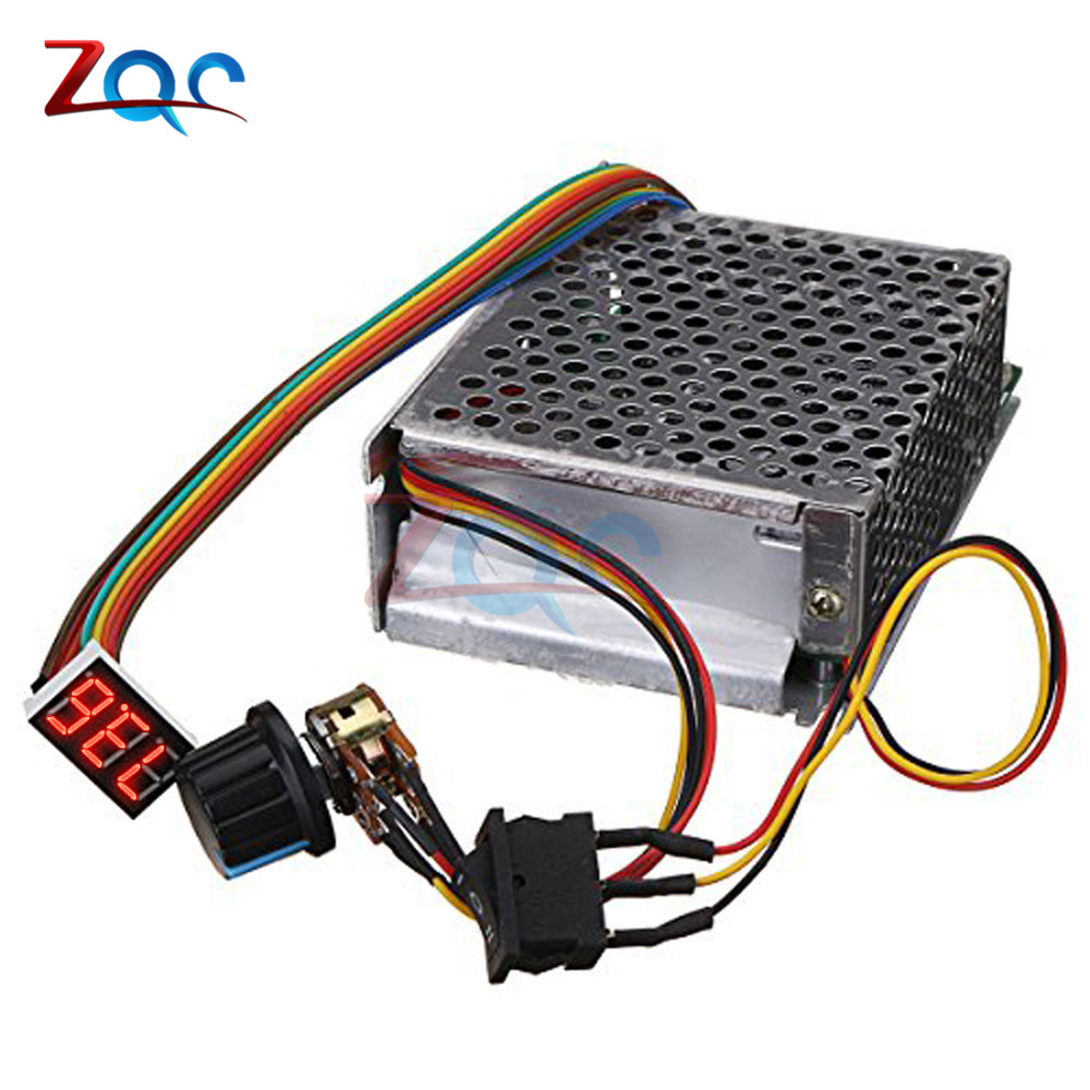 #Adjustable DC 10-55V 60A DC Motor Speed Controller PWM 12V 24V 48V 2000W MAX 100A Reversible Potentiometer On/Off/On Switch#