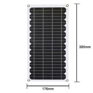 Image 5 - 12V 10w 태양 전지 패널 키트 투명 세미 유연한 Monocrystalline 태양 전지 DIY 모듈 야외 커넥터 DC 12v 충전기