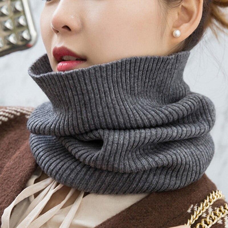 Inverno quente cachecóis de caxemira unisex elástico lã malha anel pescoço cachecol snood feminino engrossar à prova vento ciclismo condução pullove o20