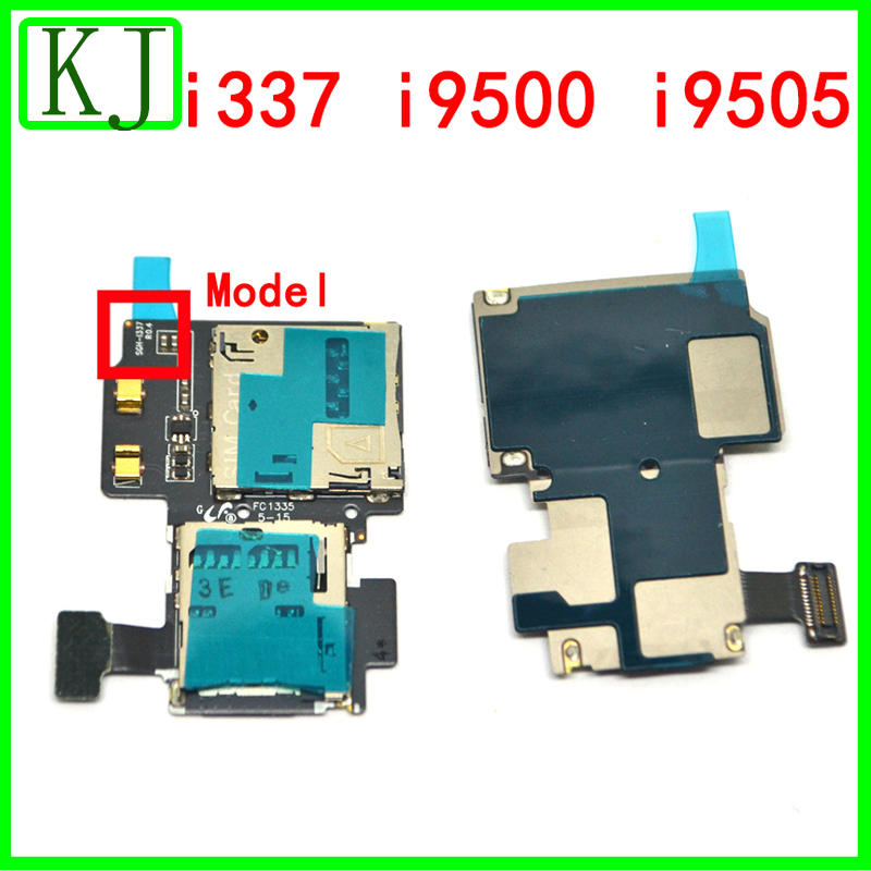 Original Sim Card For Samsung Galaxy S4 I337 I9500 I9505 Micro SD SIM Card Tray Slot Holder Reader Flex Cable