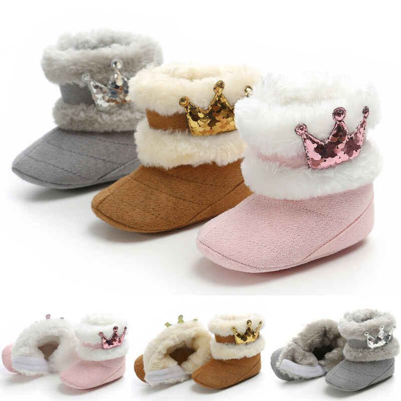 2019 New Brand Baby Girls Snow Boots Fashion Toddler Baby Girl Shoes Soft Crib Sole Shoes Casual Newborn Winter Warm Snow Boots