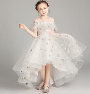 Off ramię formalna suknia księżniczki dziewczyna wieczór balu Party korowód suknia balowa małe dzieci kwiat dziewczyna sukienki na wesele chrzest
