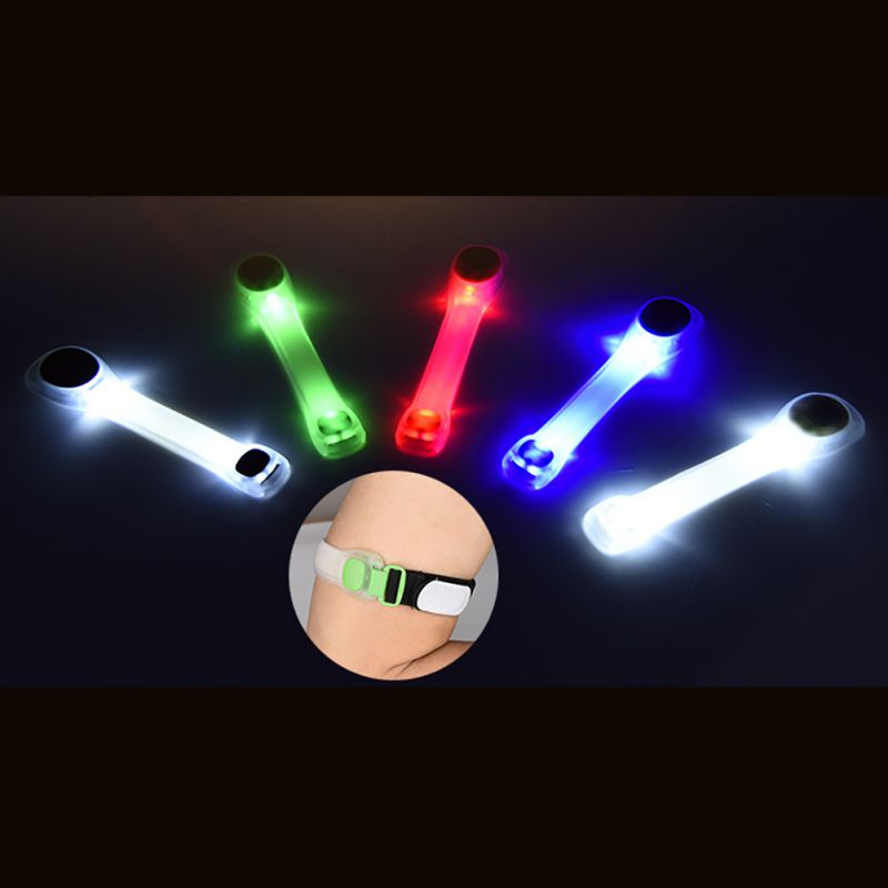 New Arrival Adjustable LED Armband Lamp Safety Belt Running Cycling Reflective Arm Strap Light