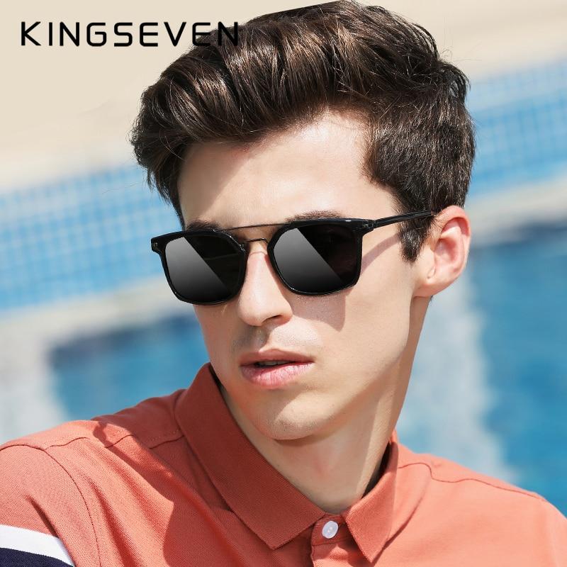 2020 KINGSEVEN TR90 Gafas De Sol polarizadas Series hombres conducción Retro Gafas UV400 Gafas De Sol