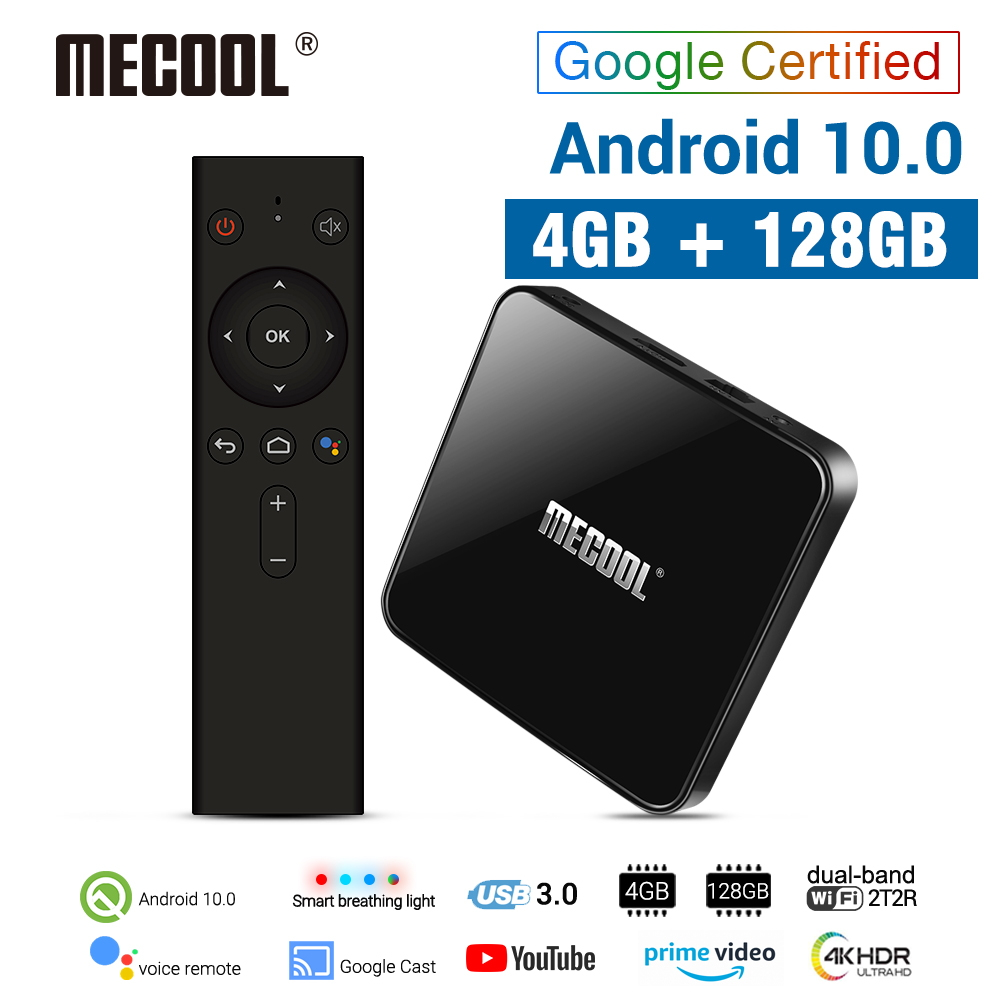 MECOOL KM3 Android 10 0 TV Box 4G DDR4 128G 64G ROM Amlogic S905X2 2 4G 5G WiFi 4K BT Voice Control Google Certified TV box