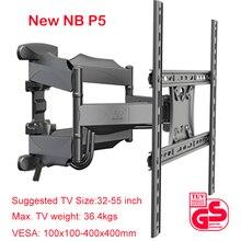 """2019 New NB P5 풀 모션 32 """" 60"""" LCD LED TV 벽 장착 브래킷 6 스윙 암 랙 Max. VESA 400x400mm Max. Load 36.4kgs"""