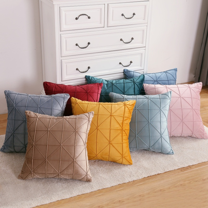 Soft Dutch Cashmere 45*45/<font><b>30</b></font>*<font><b>50</b></font> Cushion Cover Throw Pillow Home Sofa Decor Plaid Solid Color Decorative Pillowcase <font><b>fundas</b></font> <font><b>cojine</b></font> image