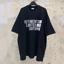 Vetements edição limitada camiseta masculina vetements camiseta logo gráfico impresso vtm streetwear tshirt