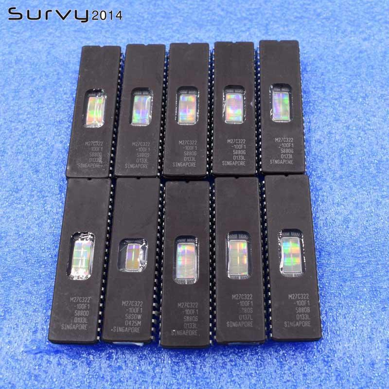 10pcs M27C322-100F1 M27C322 ST IC EPROM UV 32MBIT 42CDIP