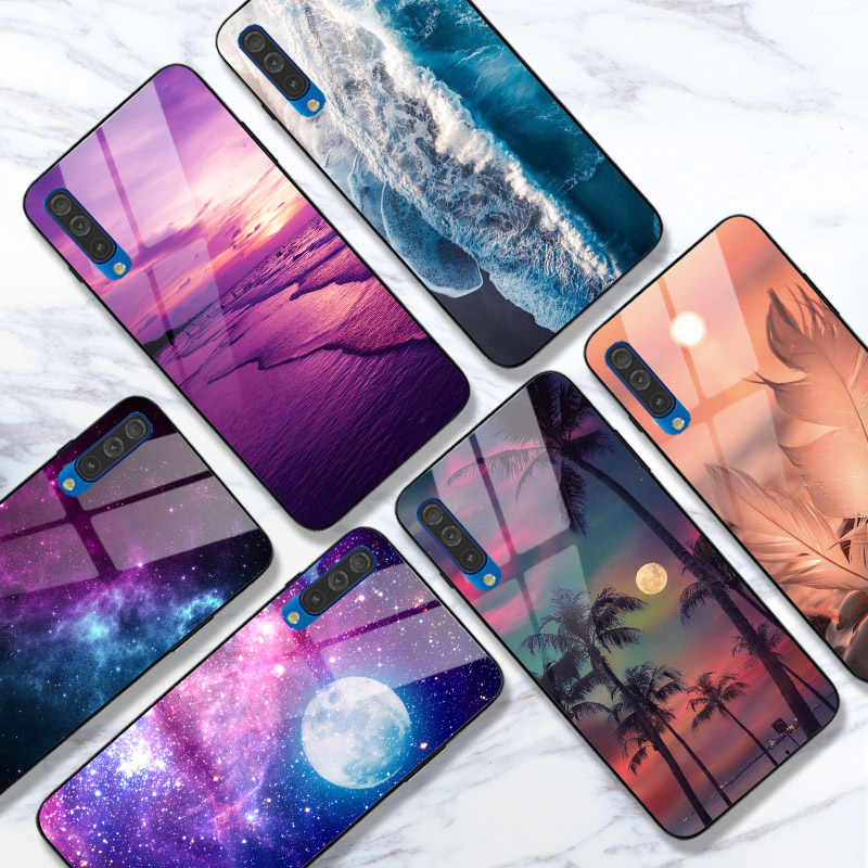 Case untuk Samsung Galaxy A50 A51 A71 A10S A20S A30S A50S A20 A30 A40 A70 A10 Kasus Terang Lenyap Glossy cover