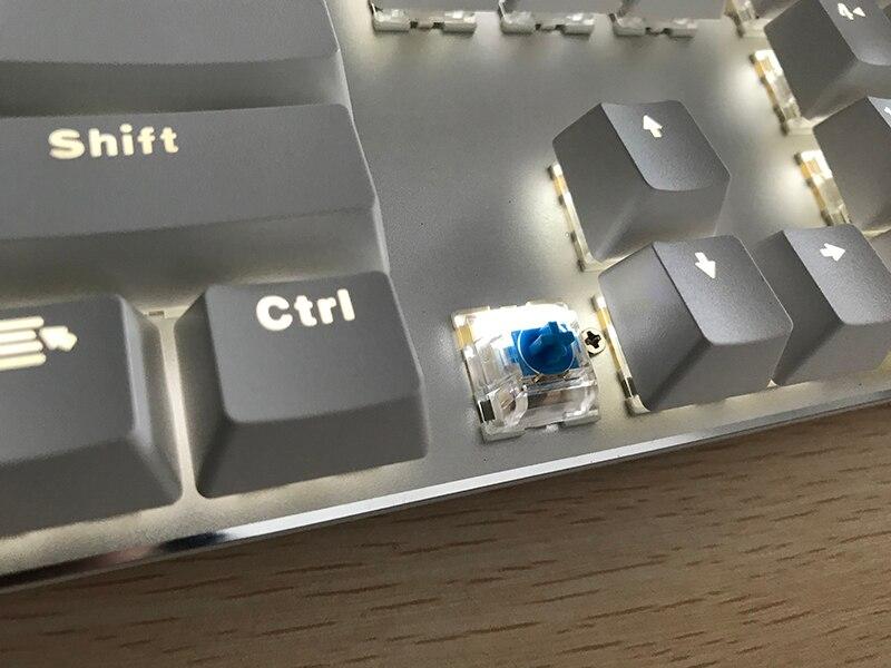 Teclado mecânico do jogo de metoo azulvermelhopreto