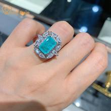 Wong pluie Vintage 925 en argent Sterling Paraiba Tourmaline pierres précieuses de fiançailles de mariage diamants bague cadeau bijoux fins en gros