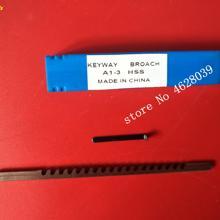 Broaching-Tools with Shim High-Speed Steel 3mm Push-Type Keyway Metric Sized HSS