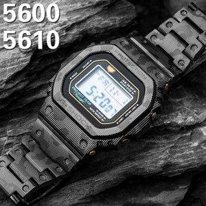DW5600 металлический ремешок для часов из нержавеющей стали 316L браслет ободок для DW5610 GMWB5000 GW5600 5030 5035 серии