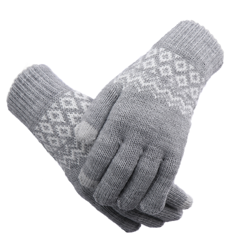 1Pair New Fashion Knitted Wool Winter Warm Women/Men Hand Wrist Warmer Fingerless Gloves White Grey Winter Gloves Gifts Dropship