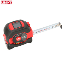 UNI T Laser Meten Meetlint 40M Digitale Afstandsmeter Afstandsmeter Intrekbare 5 M Laser Heerser Trena Een Laser Professionele