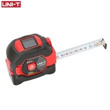 UNI T laserowa taśma pomiarowa 40M cyfrowy miernik odległości dalmierz chowany 5m laserowa linijka Trena a Laser Professional