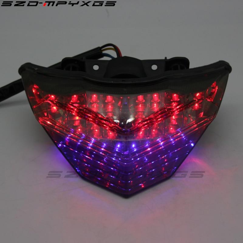 New motorcycle tail lights for Kawasaki NINJA 250R NINJA Z250 Z300 13 16 taillights LED brake lights turn signal lights