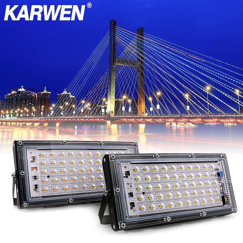 LED Flood Light 50W AC 220V 240V Spotlight Outdoor Garden Landscape Lighting Led Reflector Cast Light Floodlights
