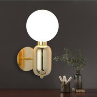 Modern Bedroom minimalist White/Black/Gold wall lamp American Simple style led lamp Bathroom Lights For Home Mirror wall Light