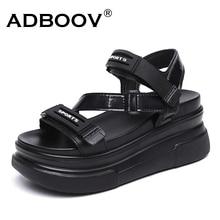 ADBOOV New 2020 Wedge Sandals Women Thick Sole High Heel San