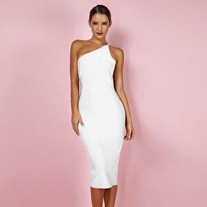 Олень, леди, олень, только $14,9! Распродажа! Белое Бандажное платье, облегающее Клубное вечернее платье знаменитости