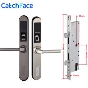 Image 4 - Водонепроницаемый Электронный замок для раздвижных дверей, биометрический замок без ключа для раздвижных дверей с крючком для деревянных или алюминиевых стеклянных дверей