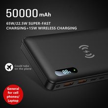 Portable Charger USB C 50000mAh Power Bank 65W PD3.0 Fast Charging Laptop Charger for MacBook Pro Dell XPS iPad Pro iPhone 12