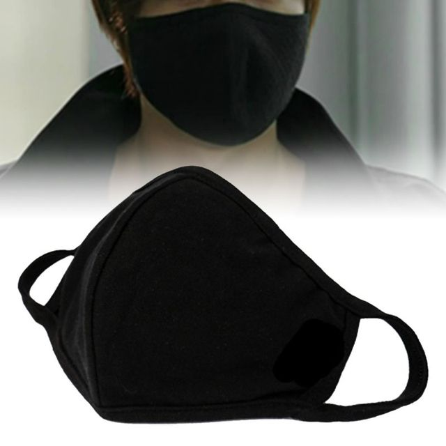 3pcs Anti-dust Breathable Protective Face Masks Unisex Black Washable Bacteria Proof Flu Face Masks Care 4