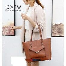 ISXTW Women Bag Vintage Messenger Bags Shoulder Handbag Women Top-Handle Composite Bag Purse Wallet Leather /B1 цена 2017