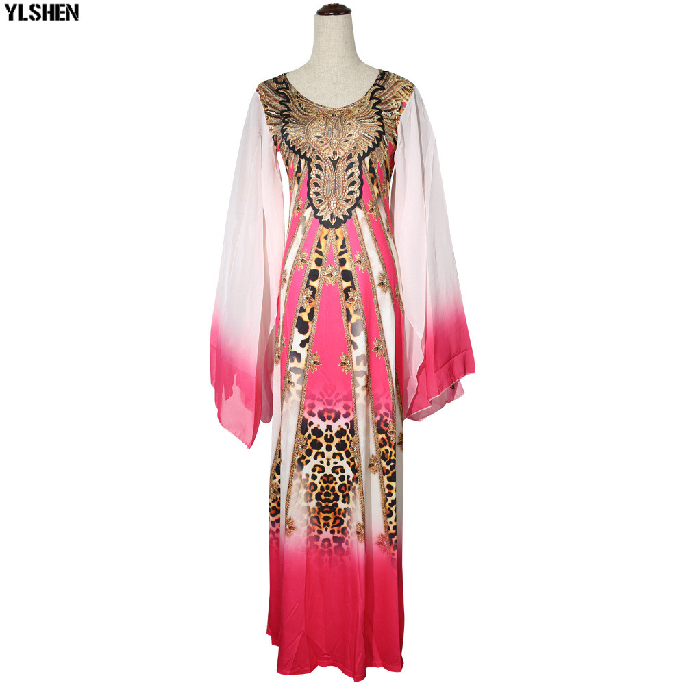 New African Dresses for Women Dashiki Print African Clothes Bazin Riche Sexy Slim Ruffle Sleeve Long Africa Maxi Dress Woman 32