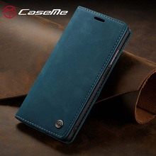 For Huawei P40 Lite Phone Case CaseMe Wallet Leather Flip Case with Stand Function