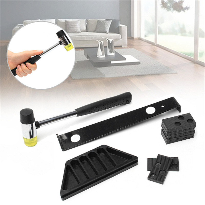 DIY Home Laminate Installation Kit Set Wood Flooring Top Quality Wooden Floor Fitting Tool with Mallet Spacers For Hand Tool Set Hand Tool Sets     - title=