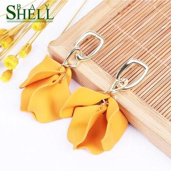 Shell Bay Flower Earrings Jewelry Fashion Pendientes Earrings Women Long Dangle Earrings Bohemia Statement Girls Gift Wholesale