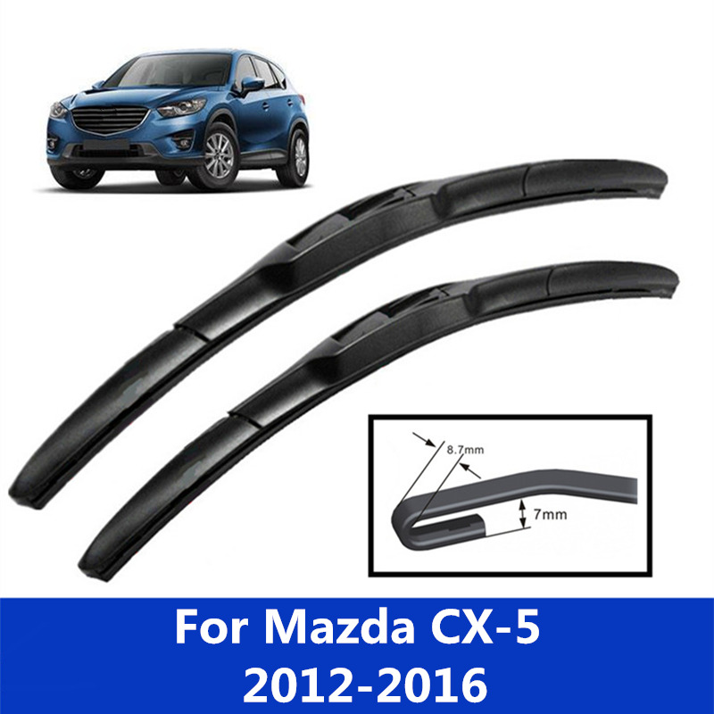 Car windshield Wiper Blades <font><b>for</b></font> <font><b>Mazda</b></font> <font><b>CX</b></font>-<font><b>5</b></font> CX5 <font><b>2012</b></font> 2013 2014 2015 <font><b>2016</b></font> image