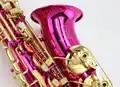 Mooie MARGEWATE Rosered Plated Altsaxofoon voor Beginner E flat Sax met Case Goede Staat Gratis Verzending