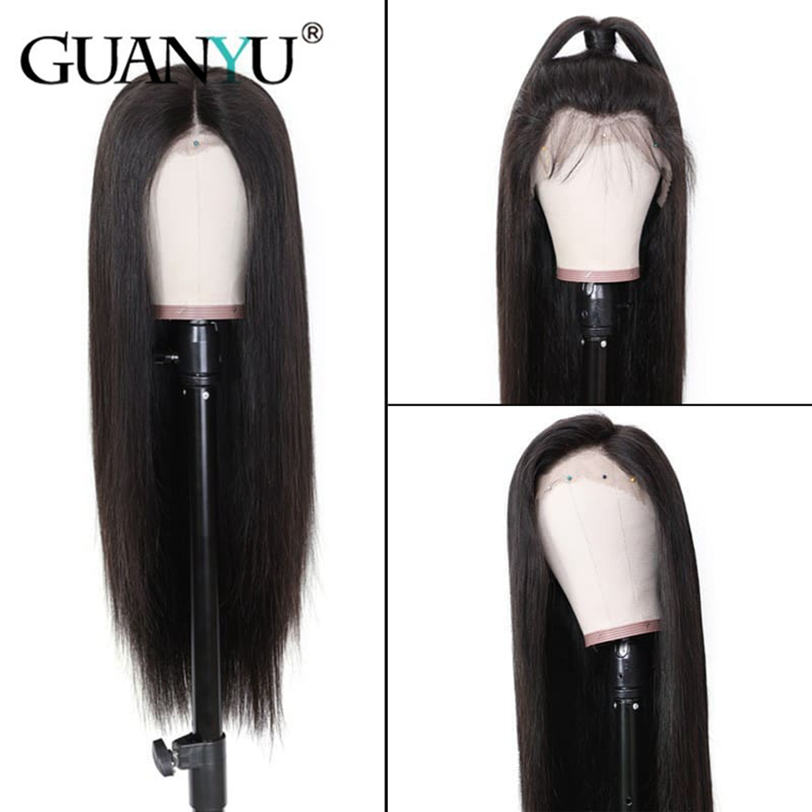 Glueless Lace Front Wigs For Women Brazilian Remy Hair Straight 13*4 Lace Front Wigs With Baby Hair Pre Plucked Front Wigs