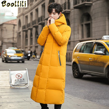 Boolili 2020 New Winter High Quality 90 White Duck Down X-long Hooded Jackets Men Men #8217 s X-Long Parka Warm Coat Plus-size M-4XL cheap REGULAR 6577 Casual zipper Full PATTERN Pockets Wave Cut Zippers Chains Thick (Winter) Broadcloth Acetate Polyester Hat Detachable