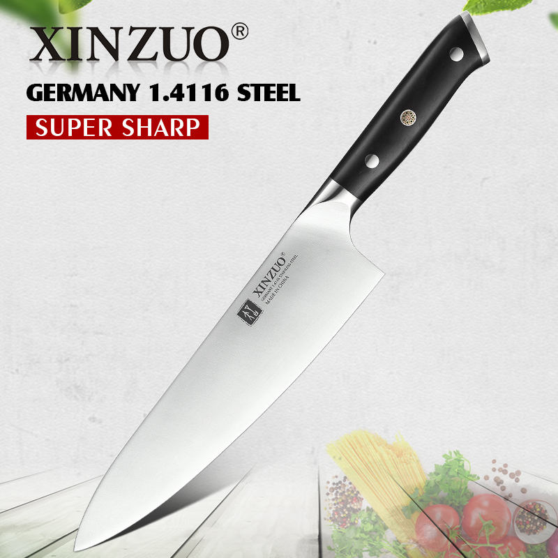 XINZUO 8.5'' inch Chef Knife High Carbon Din 1.4116 Slicing Stainless Steel German Kitchen KnivesMeat Tools with Ebony Handle(China)