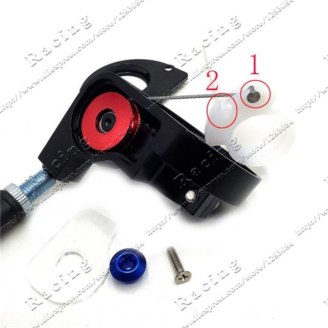 Empuñaduras de fijación de giro Abrazadera para Acelerador de aluminio plástico con Cable de acelerador para motocicleta Pit moto de cross Motocross ATV todoterreno Quad