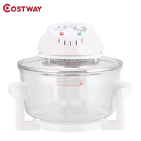Costway High Quality 1300W Infrared Halogen Convection Turbo Oven Adjustable Temperature Cooking Appliances Oven EP23583US