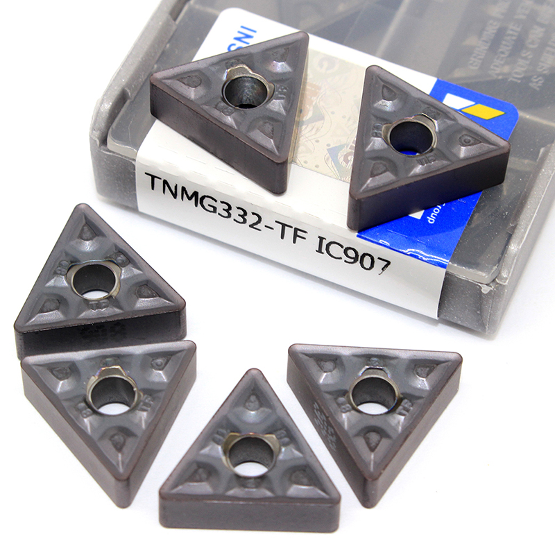 10pcs TNMG160408 TF IC907 / IC908 TNMG332 Carbide Inserts External Turning Tool TNMG 160408 CNC Latter Machine Cutting Tools