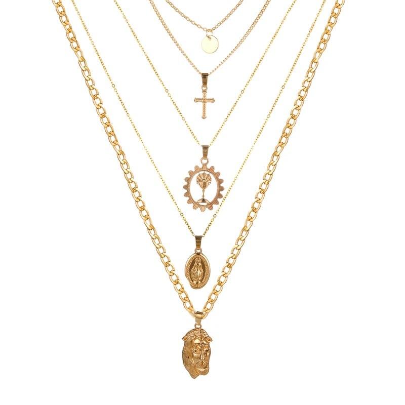 VKME модное жемчужное ожерелье с двойным слоем Love аксессуары Женское Ожерелье Bijoux подарки - Окраска металла: ZL0000833