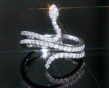 Anillos Modyle a la moda de circonia exagerada con forma de serpiente, anillo de discoteca con personalidad, regalo de joyería de moda estudiantil